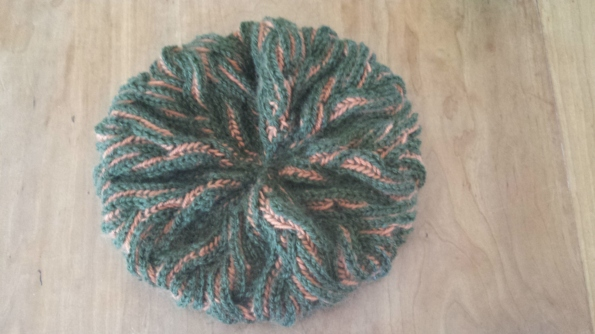 The green is leftover from a sweater Aunt Pythia knitted for her husband years ago, a wool/silk blend.