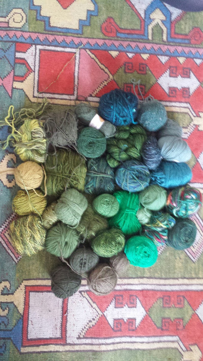 For whatever reason I keep buying lots of green yarn. I have like 5 green sweaters in my closet.